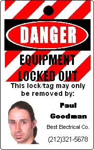 Lockout Tagout badges