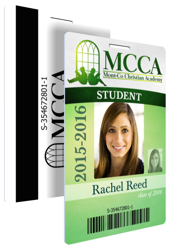 K-12 Student ID with Barcode and Magstrip