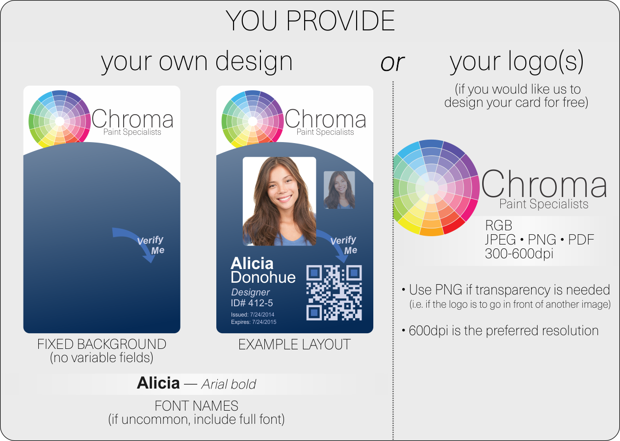 id card layout and artwork guidelines