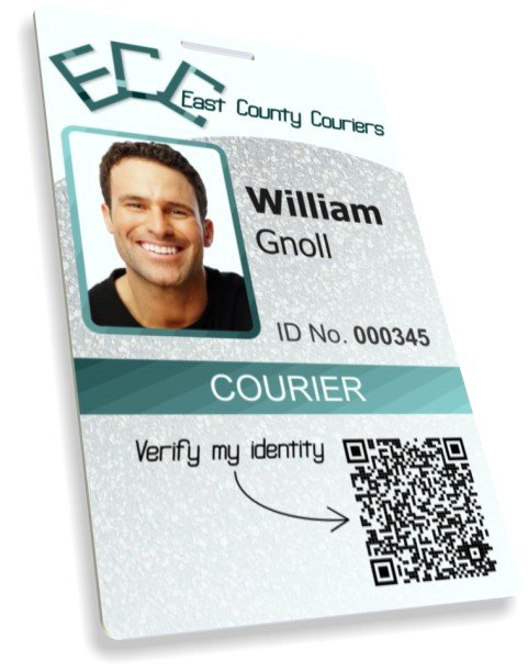 courier ID badge