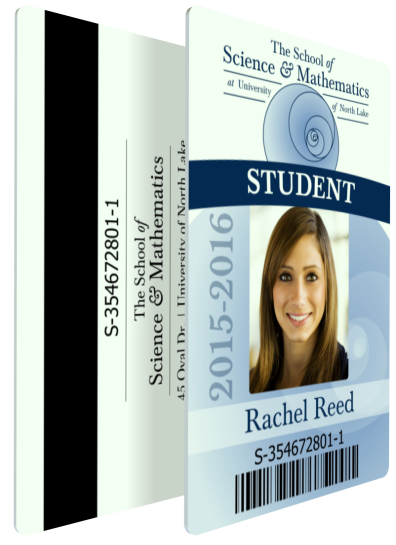 School Student ID with Barcode and Magstrip