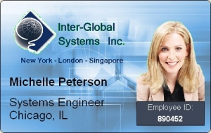 interglobal ID card with floating photo