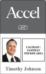 Caltrain Sticker Badge InstantCard