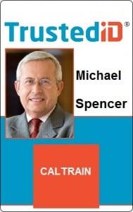 Caltrain Sticker ID Card