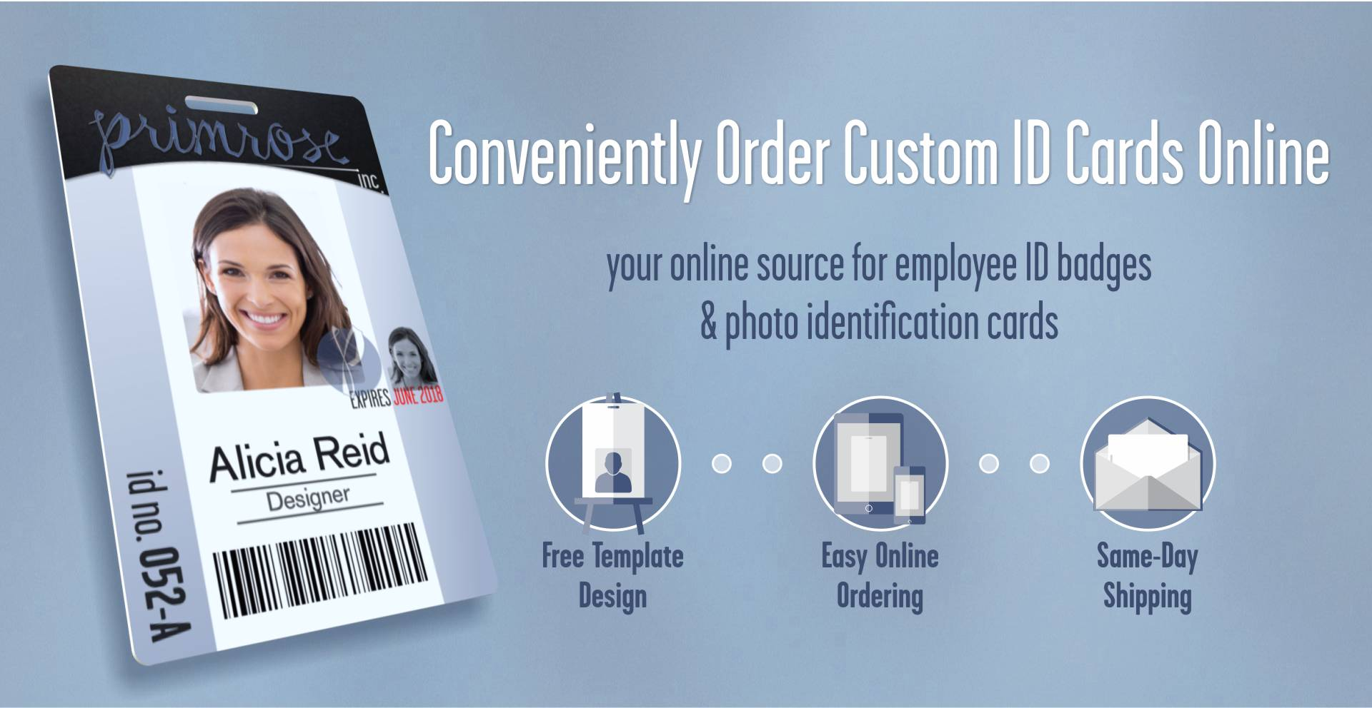 Order professional employee ID badges easily and efficiently