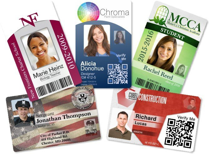 unlimited Free ID badge template design