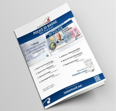 white paper police ID cards