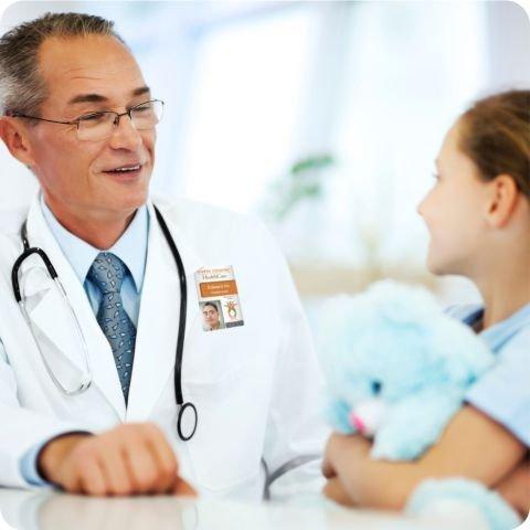 health care worker id badge