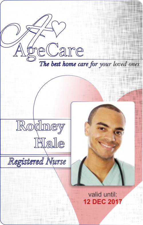 Medical photo id badges for staff in the hospital clinic for Hospital id badge template