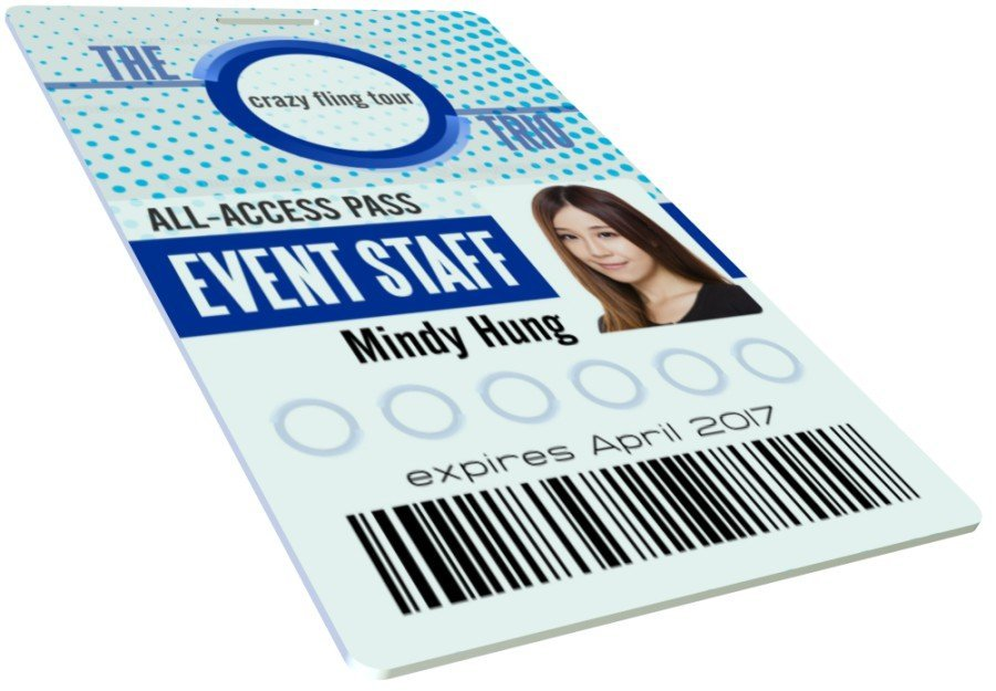 Event staff id card