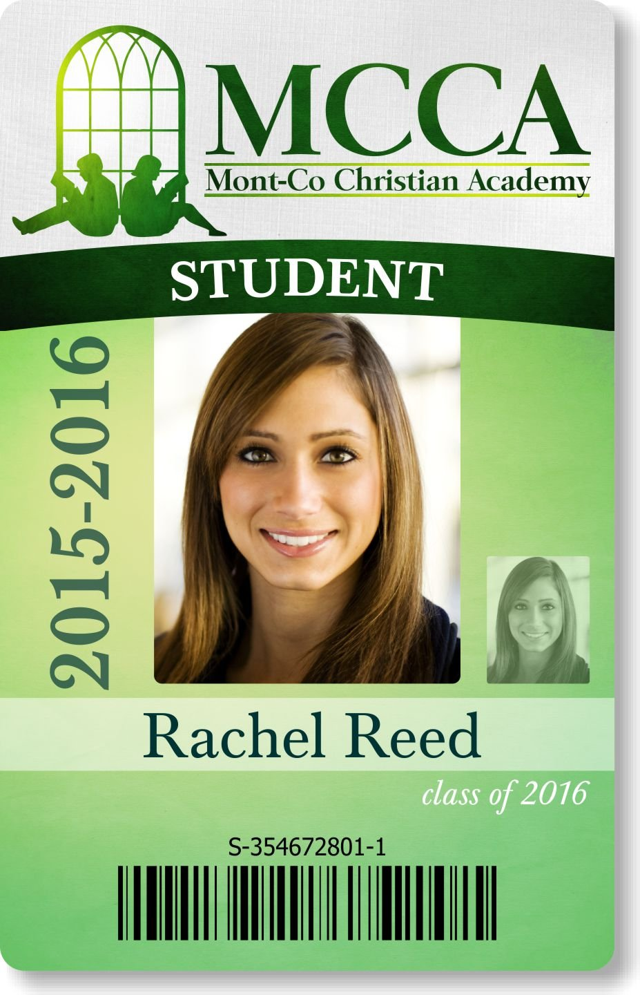 Sample card designs for School id badge template