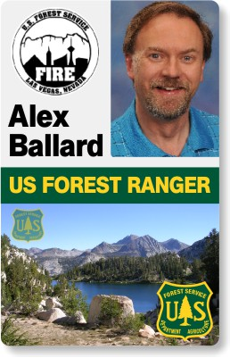 US Forest Ranger ID Badge