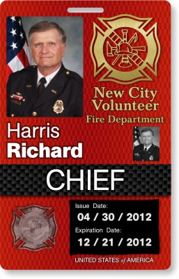 New city fire chief badge