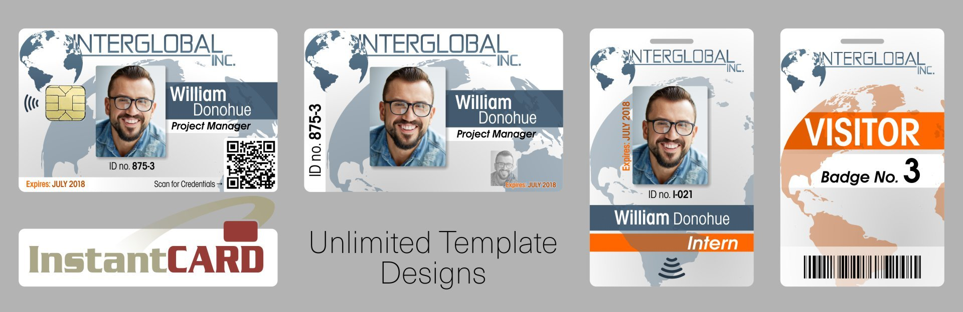 Unlimited ID Card Template Designs—InstantCard