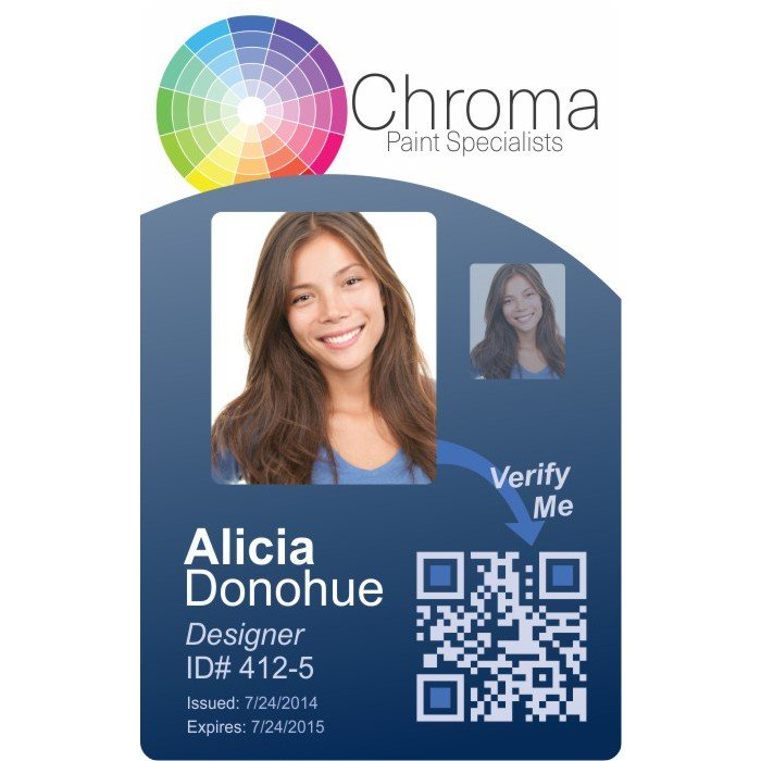 Chroma Paint Photo ID Badge