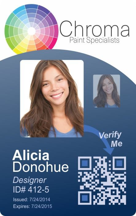 Chroma Paint Specialists Photo ID Card