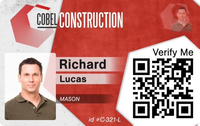 Corbel Construction ID Badge