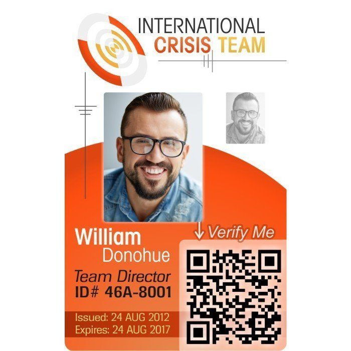 Crisis Team Employee ID Card