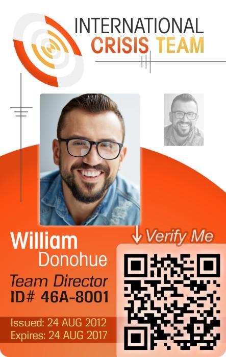 Chrisis Team First Responder ID Card