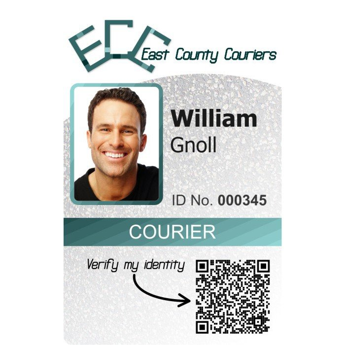 ECC Couriers Employee ID Card