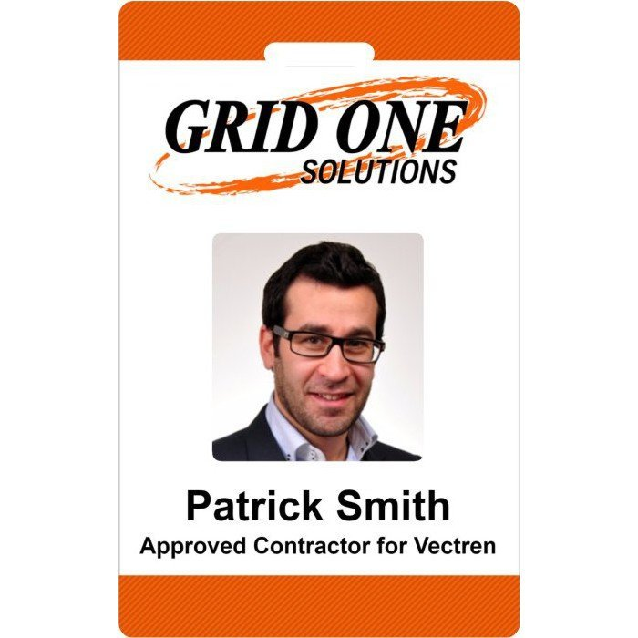Grid One Employee ID Badge