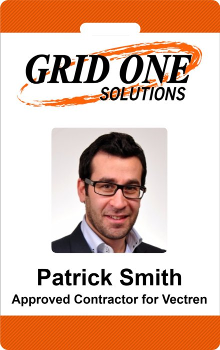 Grid One Solutions Example ID Card Design