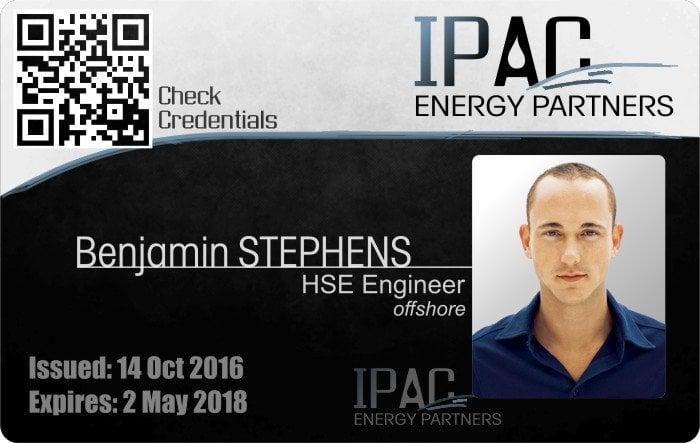 IPAC energy partners ID badge