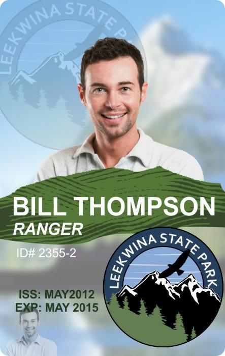 Leekwina Park Ranger ID Badge