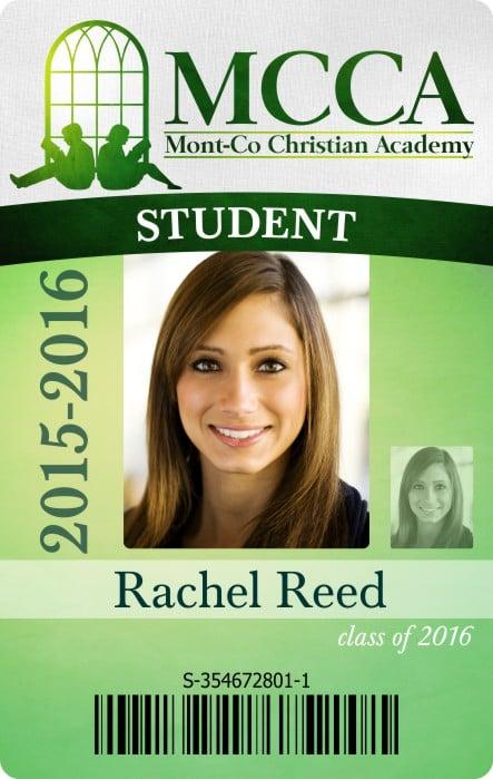 mcca high school id card free template design  u2013 instantcard