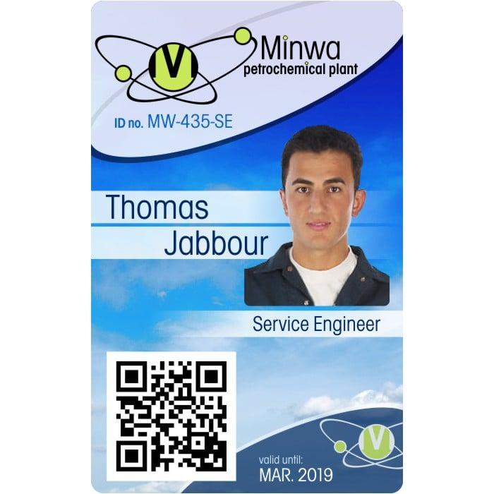 engineer photo ID Card