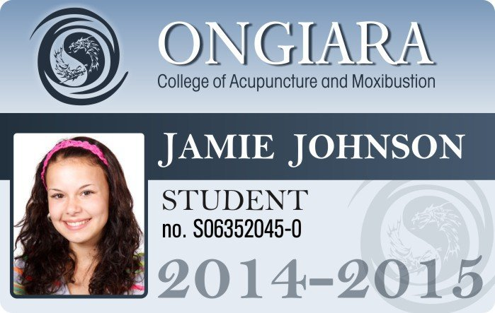 Ongaria Collge ID Card