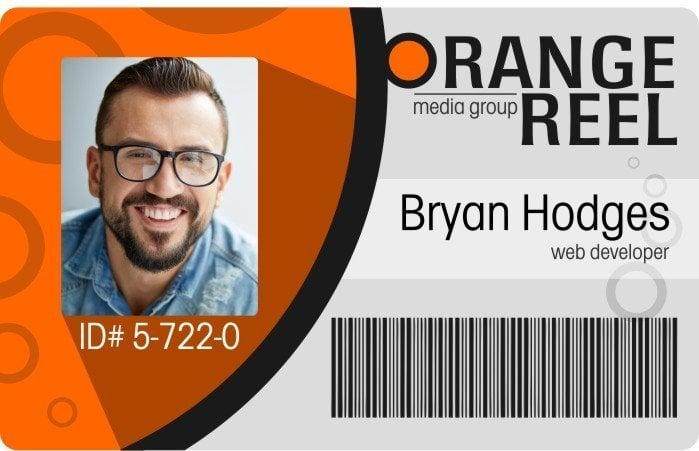Orange Reel Media Employee ID Card