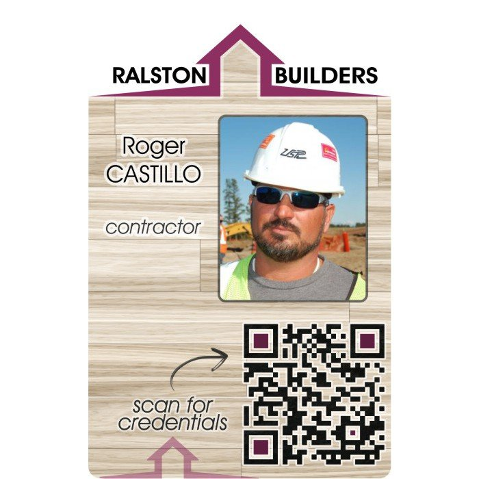 construction id badge