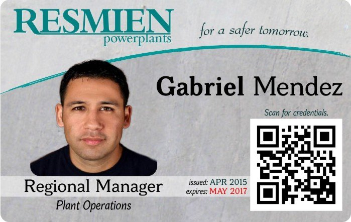 Resmien employee ID Card
