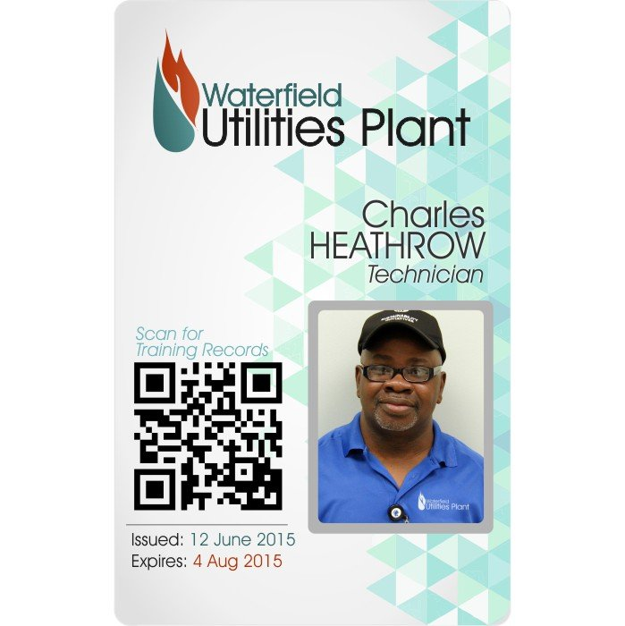 Waterfield Utilities ID card