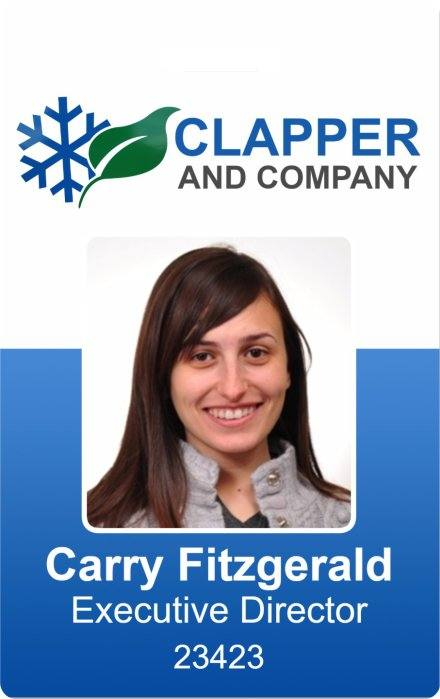 clapper and company photo id badge template instantcard