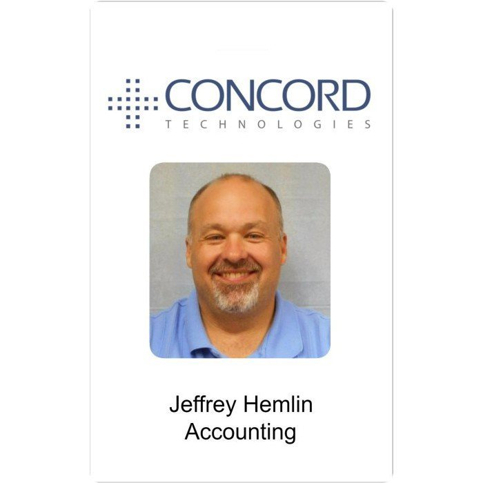 Concord Technologies Employee Photo ID