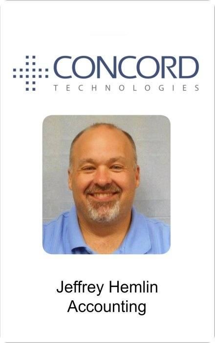 Concord technologies identification card