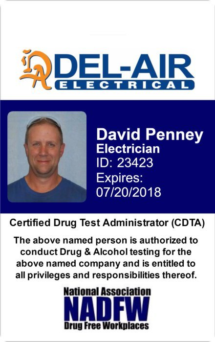 del-air electrical company id
