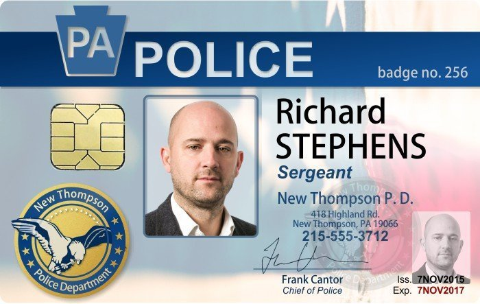 Police ID card with smart chip
