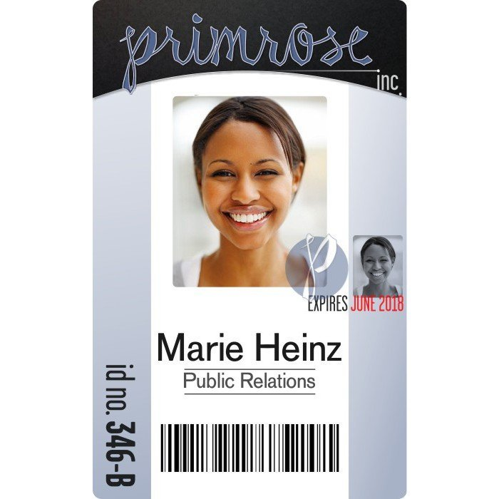 id card with bar code
