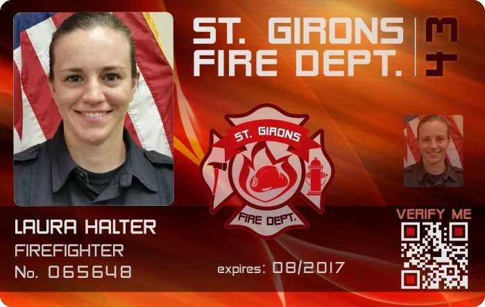 St. Girons Fire Dept. ID Card