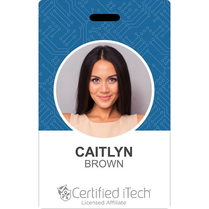 certified itech sample id card