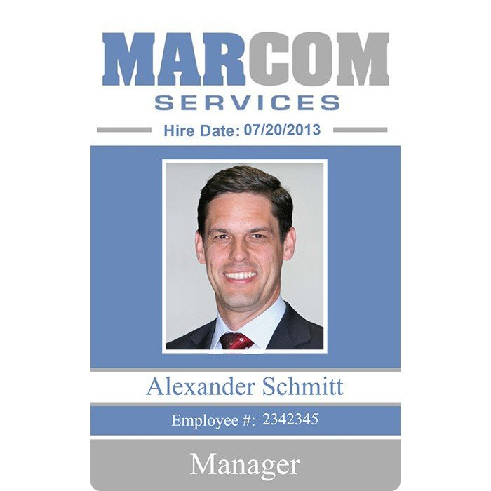 MarCom Employee ID Badge