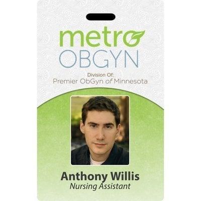metro obgyn id badge template