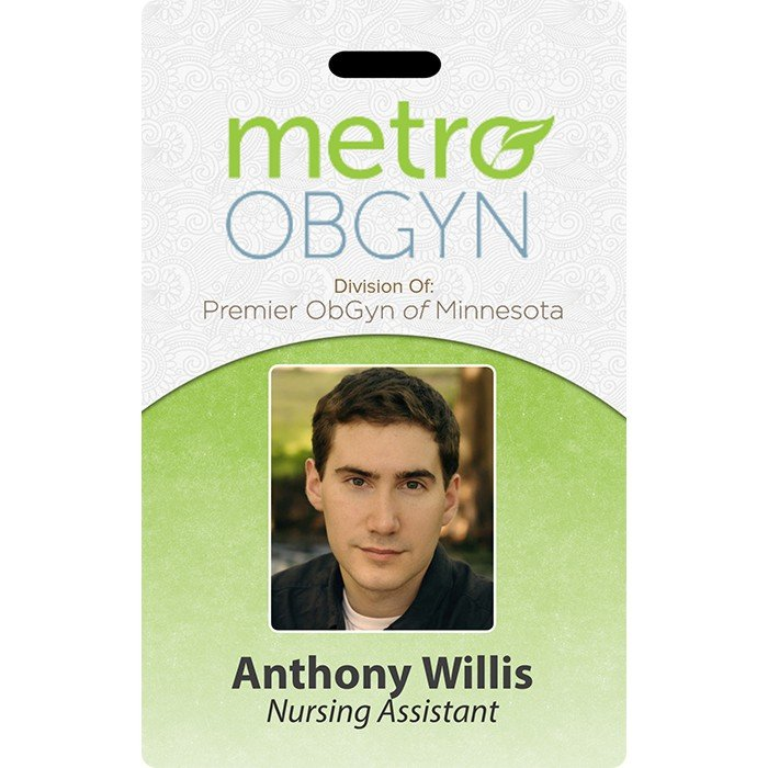 metro obgyn id badge template
