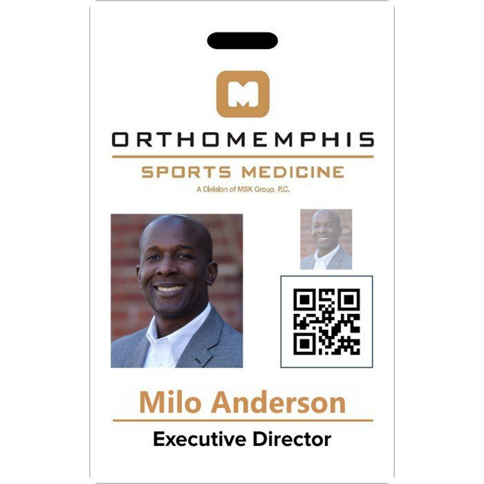 orthomemphic id badge