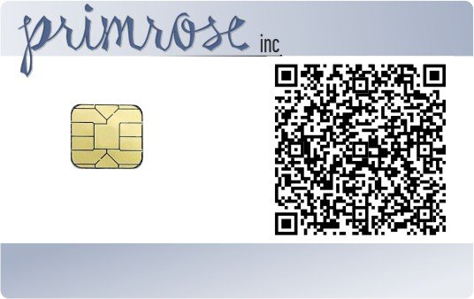 ID smart card with QR code