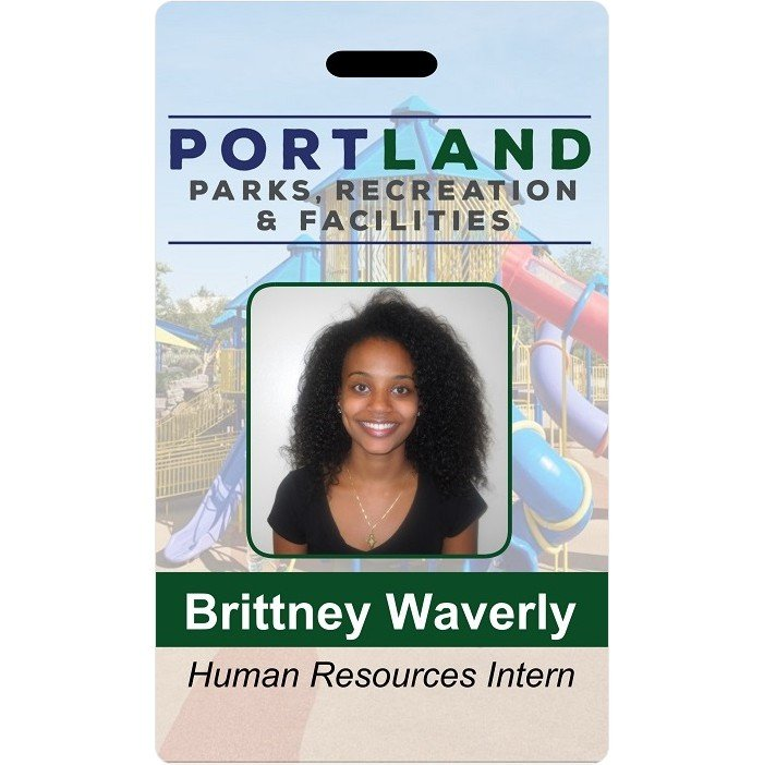 Portland parks and recreation ID badge