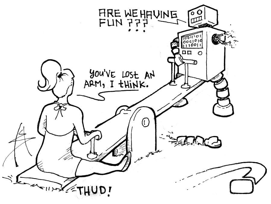 Technology Customer Service Fun Robot Comic